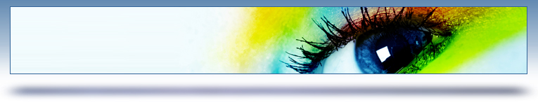 creative services graphic header - colorful eye""