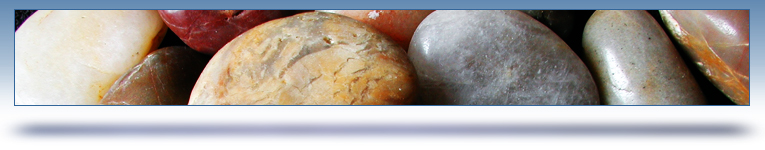 data and analytics graphic header - polished river stones